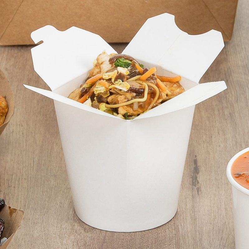 White Noodle Containers