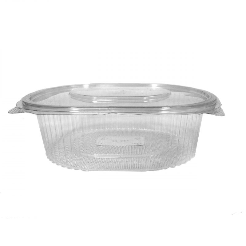 Oval Hinged Salad Container