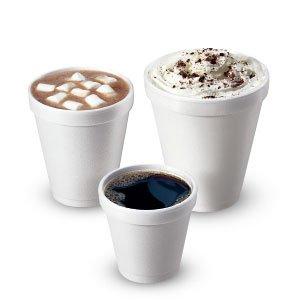White Foam Cups