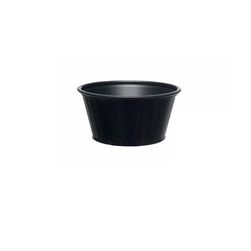 Black Souffle Containers & Lids