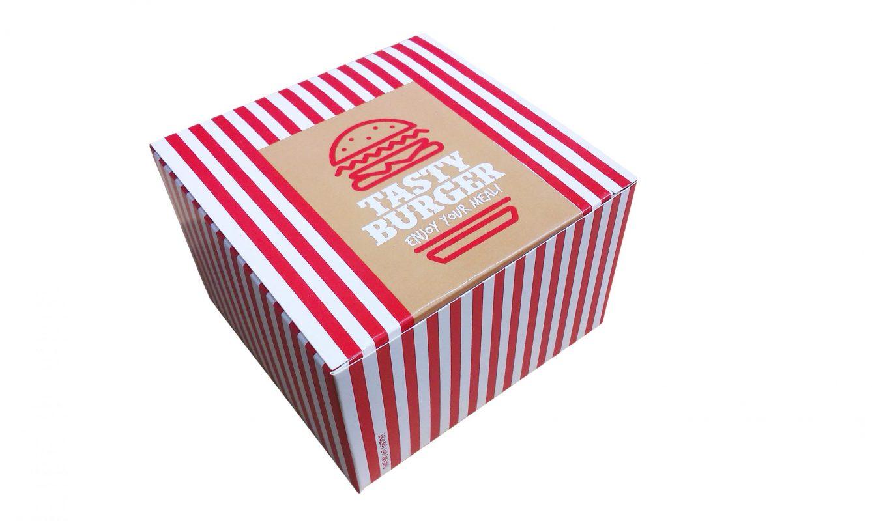 Folded Burger Boxes