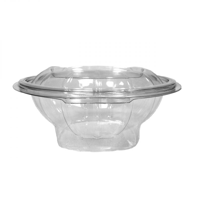 Round Hinged Salad Containers
