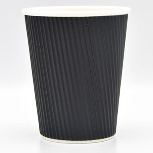 Black Ripple Wall Cups