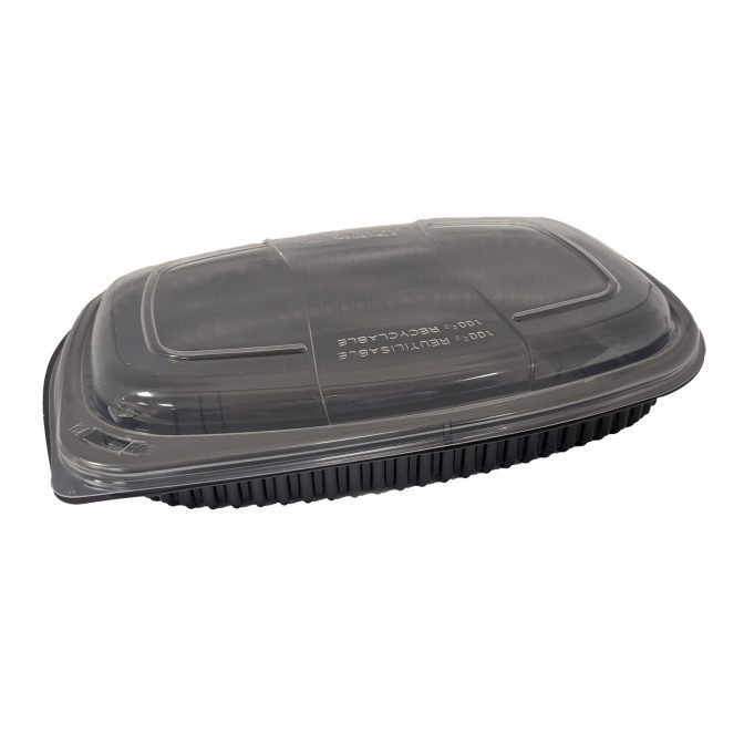 Black Microwavable Container & Lid Combos