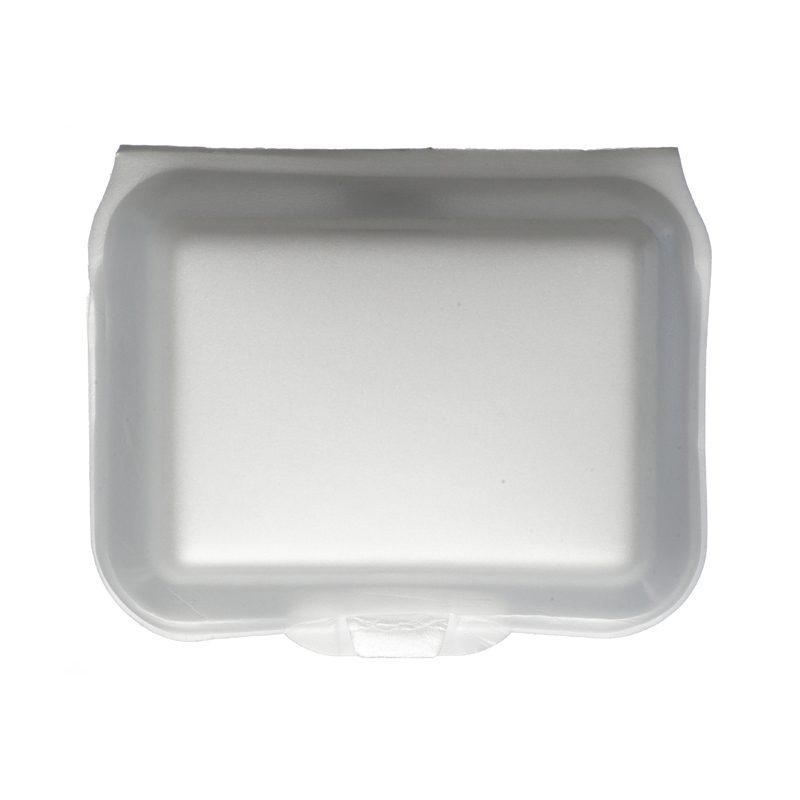 White Foam Burger Boxes