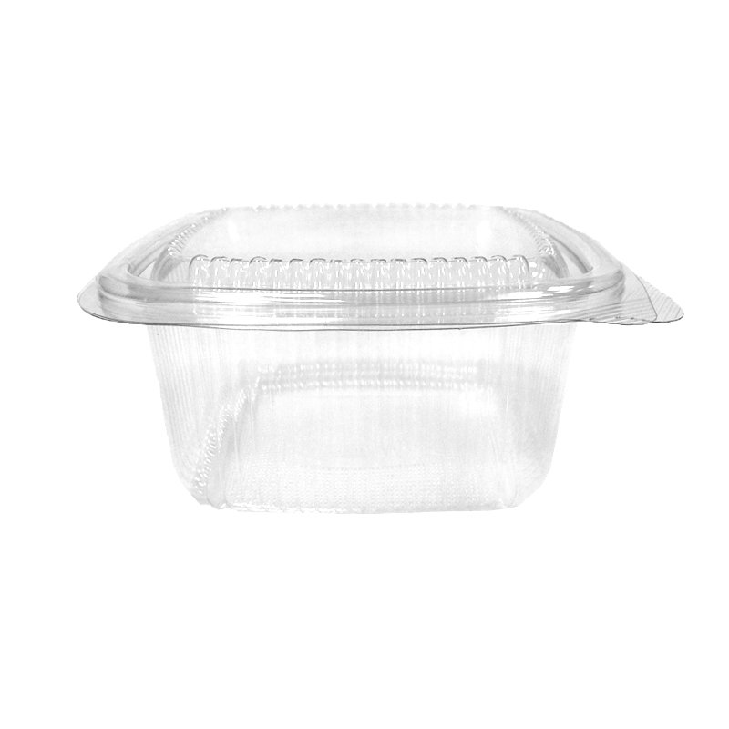 Square Hinged Salad Containers