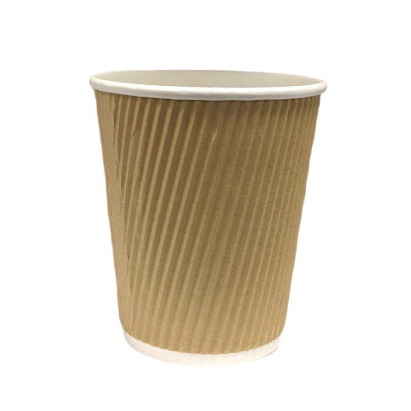 Kraft Ripple Wall Cups