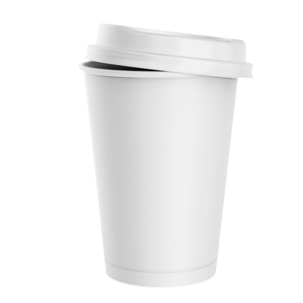 White Double Wall Hot Cups